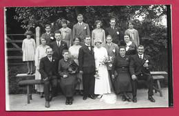 Grande PHOTO 18 X 11 Cm Des Années 1930.. MARIAGE MARIES.. Fonds Photographique BOURGAULT à FLERS ( Orne 61) - Personas Anónimos