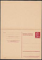DDR 15/15 Pf Ganzsache P65a **Doppelkarte Für Ausland Mit Präsident Wilhelm Pieck (24,-) - Postales - Nuevos