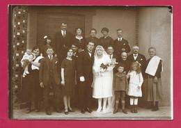 Grande PHOTO 18 X 12,5 Cm Des Années 1930.. MARIAGE, MARIES .. Fonds Photographique BOURGAULT à FLERS ( Orne 61) - Personas Anónimos