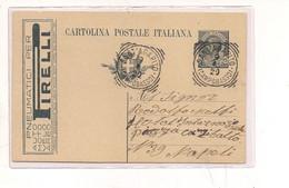 3883) INTERO POSTALE Pubblicitario 15c PIRELLI PNEUMATICI '19 SANT'AGAPITO TONDO RIQUADRATO CAMPOBASSO - Interi Postali