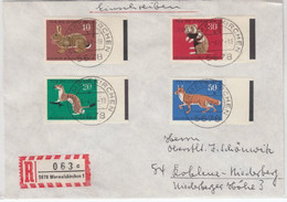 Berlin - Jugend 1967, Satz/Seitenrand M. Farbstreifen, Einschreiben - Cartas
