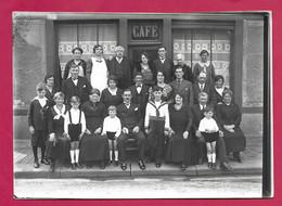 Grande PHOTO 18 X 13 Cm Des Années 1930.. COMMUNIANT Avec GROUPE .. Fonds Photographique BOURGAULT à FLERS ( Orne 61) - Personas Anónimos
