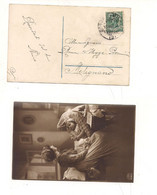 3901) Annullo Ambulante SONDRIO MILANO 3 1915 Card X Melegnano - Storia Postale