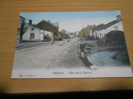 GEDINNE Rue De La Station Colorisée Circulée En 1908 - Gedinne
