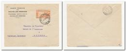 Lettre Entête Sté Française Des Nouvelles-Hébrides Oblitérée INTER-ISLANDS 26/6/1939 Pour Nouméa 10 Cts Orange YT 101 - Storia Postale