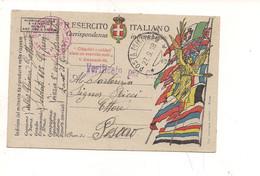 3936) INTERO POSTALE Franchigia 1^ WW 1918 Posta Militare 3 124° Ospedale Campo - Franchigia