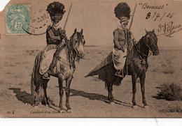 Carte Postale Ancienne - ALGERIE - Cavaliers D' Un Goum Du Sud - Coin Haut à Gauche Coupé - Plaatsen