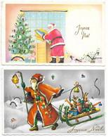 2 Cartes Joyeux Noël... PERE NOËL... - Santa Claus