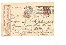 3957) INTERO POSTALE PUBBLICITARIO Cioccolato BONETTI 30c  1923 CASTELLABATE Frazionario - Entero Postal