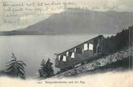 CPA Suisse Nidwald NW Bürgenstock Funicular Burgenstockbahn Und Der Rigi Funiculaire - NW Nidwald