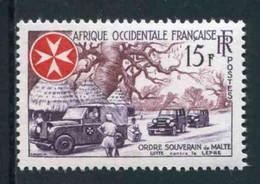 """TIMBRE** De 1957 D'AOF """"15 F. - ORDRE SOUVERAIN DE MALTE - Lutte Contre La Lèpre"""" - Zonder Classificatie"""