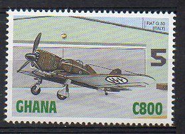 Fiat G.50, Italy - (Ghana 1998) MNH (2W0467) - Airplanes