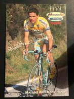 Massimiliano Napolitano - Mercatone Uno - 1998 - Carte / Card - Cyclists - Cyclisme - Ciclismo -wielrennen - Cycling