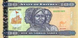 ERYTHREE 2004 100 Nakfa - P.08  Neuf UNC - Eritrea