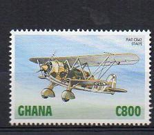Fiat CR-42, Italy - (Ghana 1998) MNH (2W0472) - Vliegtuigen