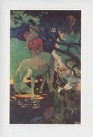 """Paul Gauguin """"le Cheval Blanc"""" Polynésie Française Tahiti 1898 (cp Vierge) - Polynésie Française"""