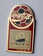SP371 Pin's Football Foot Coupe Monde France Coca Cola  COKE Sponsor Achat Immédiat Immédiat - Calcio