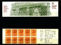 GREAT BRITAIN - 1979  £ 1  BOOKLET  IRONBRIDGE  RM  MINT NH  SG FH 1b - Booklets