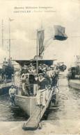 Marine Militaire Francaise - Coutelas - Contre Torpilleur - Tampon Camp De Prisonnier De Darmstadt - Guerra