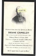GUERRE 14/18- Désiré CAMELOT ,Né à Coutiches , Curé De Wavrins, Doyen St Vaast , +par Un Obus Le 30/7/1917, Imp. Armenti - Obituary Notices
