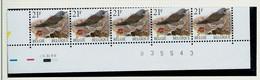 N° 2792 P 5b ( GJ) Grive Litorne - Kramsvogel - (**) Bande De 5 Datée Du 5. XI. 98 - 1985-.. Pájaros (Buzin)