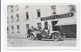 BASTOGNE ( BELGIQUE ) HOTEL LEBRUN , 1910 Scène Animée Avec Voyageurs Dans Voiture Ancienne - Lieux