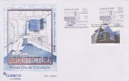 Enveloppe  FDC  1er  Jour  ANDORRE   Architecture   Centre  D' Interprétration  De  L' Eau  Et  Du  Madriu   2012 - Sin Clasificación