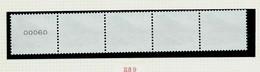 N° R89  P 5b ( GJ) Grive Litorne - Kramsvogel - (**) Des Rouleaux De 5000 Ou 10 000 Ex. Bande De 5 (5 Chiffres) - 1985-.. Pájaros (Buzin)