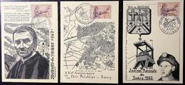 3 Cartes Différentes De La Journées Du Timbre 1963 - Cachets De Creutzwald, Valence, Le Raincy - Zonder Classificatie
