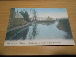 GEDINNE Confluent De La Houlle Et De La Houillette  Colorisée Circulée En 1908 - Gedinne