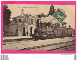 CPA  (Réf Z300)  CRAON (53 MAYENNE) La Gare Avec Superbe Locomotive (gros Plan) - Craon