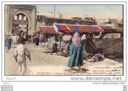 "Cpa  ( Maroc)      TANGER  ""  Grand Soko Gate ""1907 - Tanger"