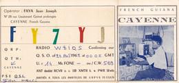 GUYANE Cayenne  Document Carte Radio Amateur1963 Faya Joseph Radio Club Antilles Guyane French Guyana - Sin Clasificación