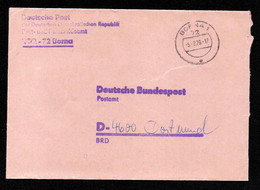 DDR Brief Postsache BORNA - Dortmund - 5.2.79 - Official
