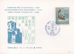 Yugoslavia, Chess, Match Yugoslavia - USSR, Ohrid 1972, Card - Ajedrez