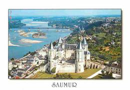49 - Saumur - Le Château Et La Loire - Vue Aérienne - CPM - Voir Scans Recto-Verso - Saumur
