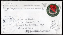 USA - 2015 - Letter - Sent To Buenos Aires, Argentina - Air Mail - A1RR2 - Cartas