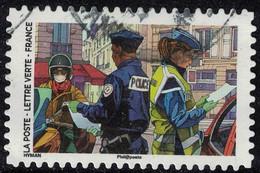 France 2020 Oblitéré Rond Used Contre Le Covid Tous Engagés Gendarme Et Policier SU - Used Stamps