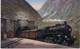 SUISSE - TRES RARE - BELLE CARTE EN COULEUR - Gotthardbahn - Expresszug - 1914 - UR Uri