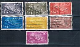ESPAÑA 1955/56 SUPERCONSTELACIÓN Y NAO SANTA MARIA 9 SELLOS EDIFIL 1170 A 1172 1175 A 1178 - Colecciones