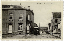 CP BELGIQUE (M1710) SAINT-AMAND - FLEURUS (2 Vues) Rue Georges Marroye - Edit. : Rucquoy - Fleurus