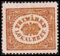 1862. SVERIGE. Stamps For City Postage. (3 ö) Bistre Brown. Line Perforation 14. Hing... (Michel 13 PARIS) - JF414418 - Neufs