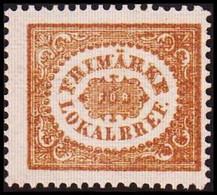 1862. SVERIGE. Stamps For City Postage. (3 ö) Bistre Brown. Line Perforation 14. Hing... (Michel 13 PARIS) - JF414419 - Neufs