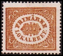1862. SVERIGE. Stamps For City Postage. (3 ö) Bistre Brown. Line Perforation 14. Hing... (Michel 13 PARIS) - JF414420 - Neufs