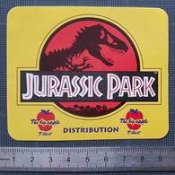 Autocollant Sticker Adhésif Vintage - Années 1990 - Jurassic Park - Distribution - Stickers