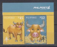 Filippine Philippines Philippinen Pilipinas 2020 (2021) Year Of The Ox Set Se-tenant - MNH** - Philippines