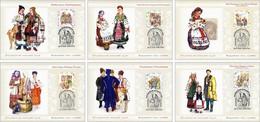 MAXICARD UKRAINE/UKRAINA 2020 MI.1932-37,DIVARII 1881-86,YVERT...,(Bl.172) Ukrainian Folk Costumes MNH ** - Ucraina