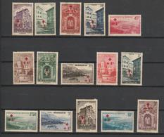 Monaco 205/219 Mit Gummischaden, Rotes Kreuz (Yvert 200/214 - NEUF SANS GOMME) - Ongebruikt