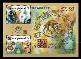 New Zealand 2008 Year Of The Rat Minisheet MNH - See Notes - Ongebruikt