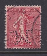 Perforé/perfin/lochung France No 129  M Sté Des Mines De Lens (6) - Gezähnt (Perforiert/Gezähnt)
